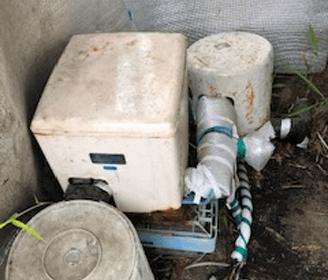 京田辺市の修理前の井戸ポンプの様子
