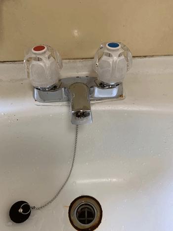 大東市の洗面蛇口水漏れの作業後の様子