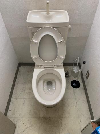 茨木市のトイレつまり作業後の様子