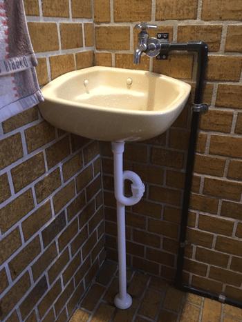 柏原市の洗面排水修理後の様子