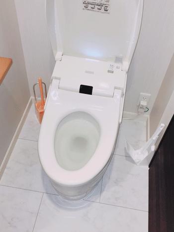 交野市のトイレつまりの様子