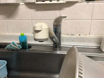 守口市の台所蛇口水漏れの様子