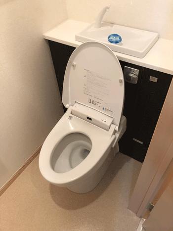 守口市のトイレつまり作業後の様子