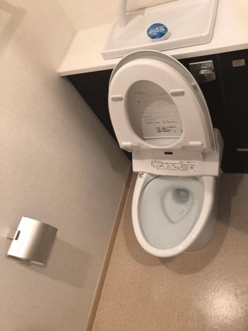 守口市のトイレつまりの様子