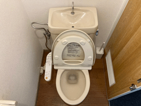 大阪市阿倍野区のトイレつまり作業後の様子