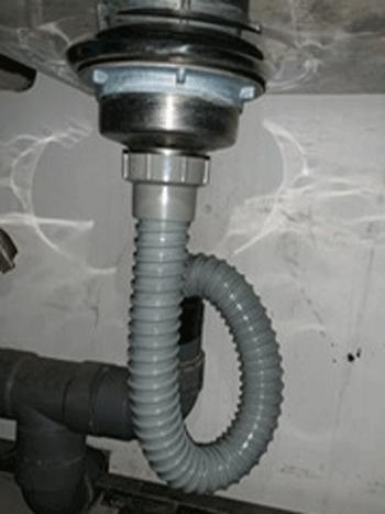 堺市の台所排水水漏れ修理後の様子