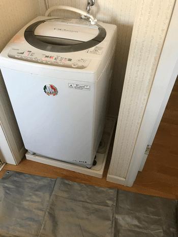 堺市の洗濯排水つまり作業後の様子