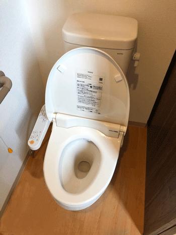 摂津市のトイレつまり作業後の様子