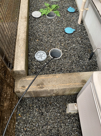 吹田市の台所排水つまりの様子