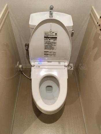 八尾市のトイレつまり作業後の様子