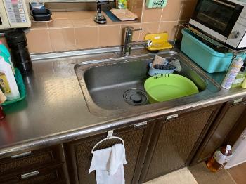 東大阪市の台所蛇口水漏れの作業後の様子