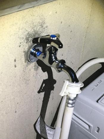 泉大津市の台所蛇口水漏れの作業後の様子