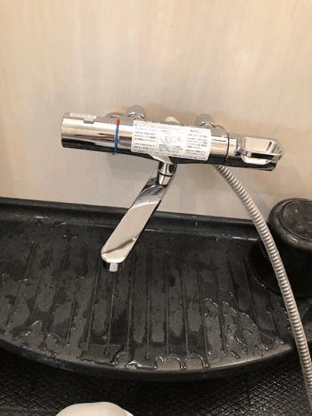 大阪市平野区のお風呂蛇口水漏れ作業後の様子