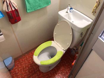 大阪市城東区のトイレつまり作業後の様子