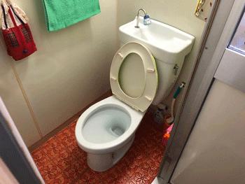 大阪市城東区のトイレつまりの様子