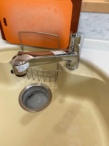 大阪市北区の台所蛇口水漏れ作業後の様子