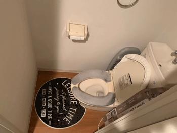 大阪市浪速区のトイレつまり作業後の様子