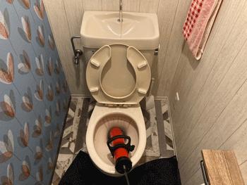 大阪市鶴見区のトイレつまりの様子