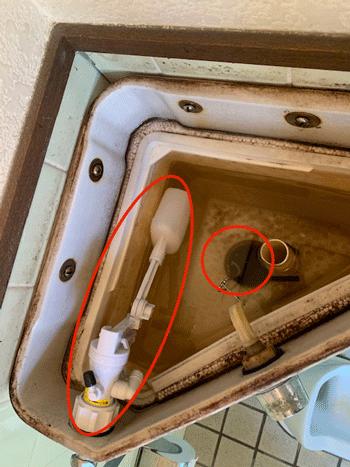 四條畷市のトイレ水漏れの修理作業後の様子