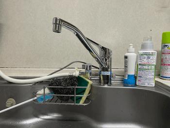 藤井寺市のトイレ手洗い水栓水漏れの作業後の様子