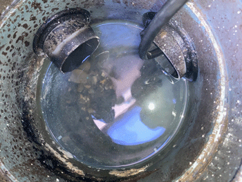 東大阪市の台所排水つまり修理後の様子
