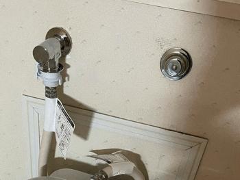 大阪狭山市の浴室蛇口水漏れ作業後の様子
