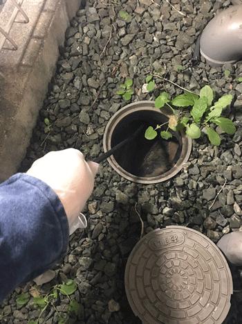大阪市平野区のトイレつまり作業後の様子