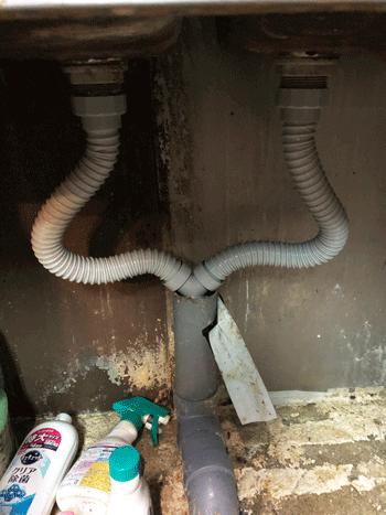 大阪市中央区の洗面蛇口水漏れの作業後の様子