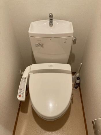摂津市のトイレ水漏れ修理後の様子