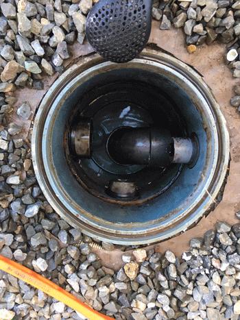 高槻市の屋外排水つまり修理後の様子