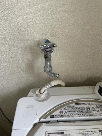 富田林市の洗濯蛇口水漏れの様子