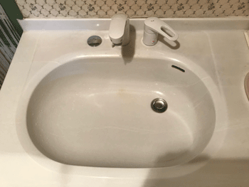 豊中市の台所蛇口水漏れの作業後の様子