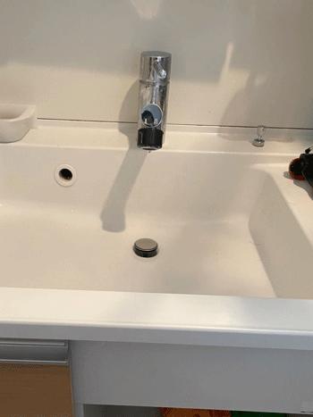 豊中市の洗面蛇口修理後の様子