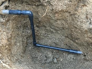 八尾市の水道管水漏れの修理後の様子