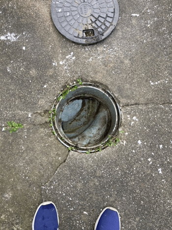 枚方市の排水詰まり修理完了後の様子