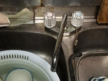 草津市の台所蛇口水漏れ修理後の様子