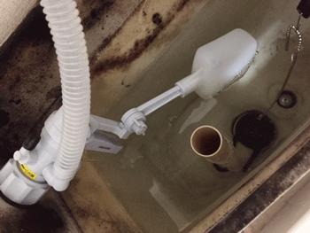 箕面市のトイレ水漏れ修理後の様子
