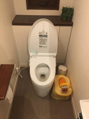 箕面市のトイレつまり修理後の様子