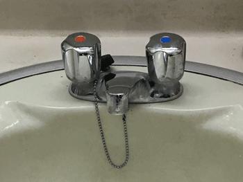 向日市の台所蛇口水漏れの様子