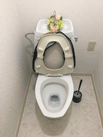 向日市のトイレつまり修理後の様子