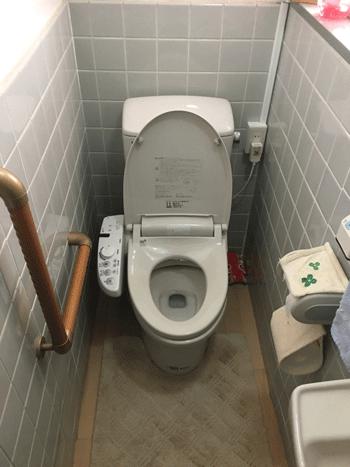 長岡京市のトイレつまり解消後の様子