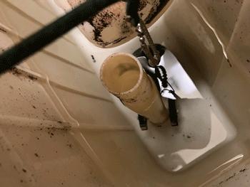 大阪市大正区のトイレ水漏れ修理後の様子