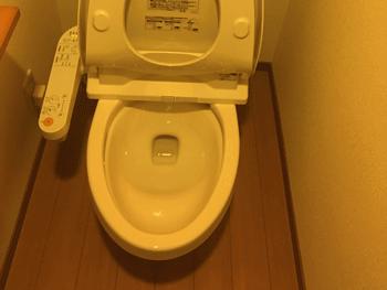 大津市のトイレつまり解消後の様子