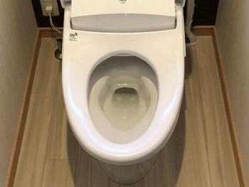 栗東市のトイレの詰まり解消後の様子