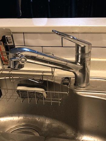 宇治市の台所蛇口水漏れ修理後の様子