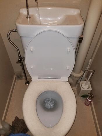 和歌山市のトイレつまり解消後の様子