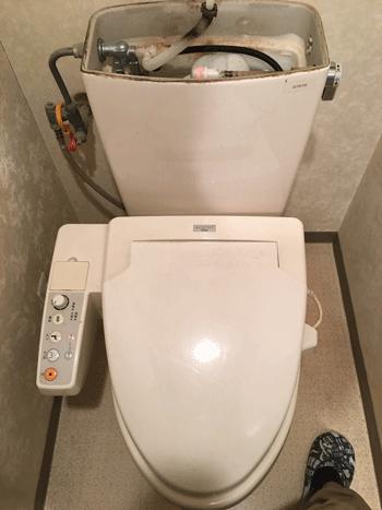 亀岡市のトイレ水漏れの様子