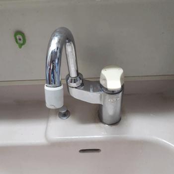 木津川市の台所蛇口水漏れ修理後の様子