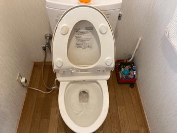 湖南市のトイレつまり解消後の様子