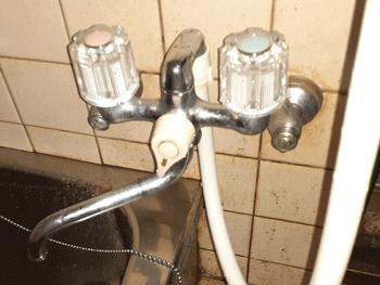 守山市の浴室蛇口水漏れ修理後の様子